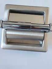 1 X SINGLE RECESSED TOILET PAPER HOLDER WITH HOOD - FREE POSTAGE