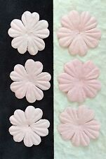 20 Pale Pink Handmade Mulberry Paper Flowers Petals Baby Girl shower cards 1""