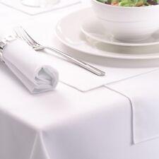 New10PCs Wedding Banquet Restaurant Premium White Rectangle Tablecloth 137x230cm