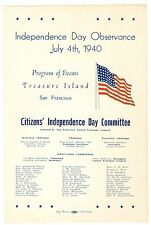 July 4, 1940 Independence Day Program, San Francisco Golden Gate Inter Expo GGIE