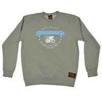 Cycling Sweatshirt Funny Novelty Jumper Top - When Life Gets Complicated Cycling
