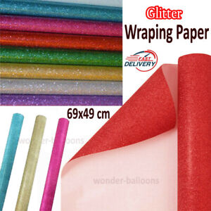 Glitter sparkle gift wrapping sheets perfect for all occasions- 69x49cm sheets