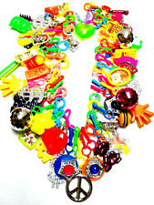 VINTAGE Plastic Charms Necklace 60 Charm 80cm Retro Fashion Jewellery Chain Chip