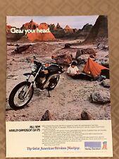 Vintage Harley-Davidson SX-175 Motorcycle Magazine Ad