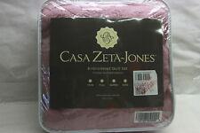 Casa Zeta-Jones Reversible King Cotton Coverlet Set w/Scalloped Edge ROSES