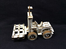 FORK LIFT TRUCK LASER CUT IN LEGNO MODELLO 3D / Puzzle KIT