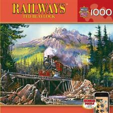 MASTERPIECES RAILWAYS PUZZLE MOVIN THRU '71 TED BLAYLOCK 1000 PCS TRAINS # 71547