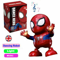 Spiderman Dance Hero Action Figure Robot Toy Dancing Music With Light Sound Gift
