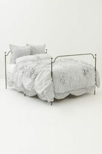 LAST ONE Anthropologie ✨ Georgina ✨ queen duvet cover NWT light grey gray