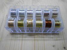 Fliegenbindematerial Tinsel Draht Gold Silber Kupfer Fliegenfischen