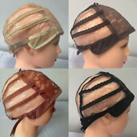 Wig Cap for Making Wigs With Adjustable Straps Breathable Mesh Lace Weaving Cap
