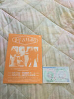DEF LEPPARD Japan tour 1996 flyer and ticket  stub Sugar on me Rock of age