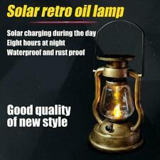Vintage Solar Powered LED Hanging Light Lantern Candle Lamp Decor Garden BEST