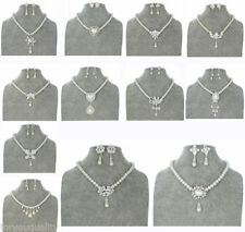 Simulated Alloy Crystal Costume Jewellery Sets