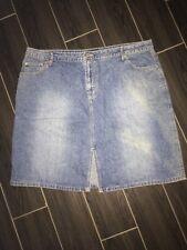 NO BOUNDARIES Junior Size 23 Front Split Distressed Denim Jeans Style Skirt