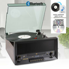 More details for fenton rp135w record player retro 60s turntable bluetooth cd player speakers mp3