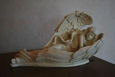 Engel schlafend in ihren Flügel Grab Dekoration Garten Deko Skulptur Figur