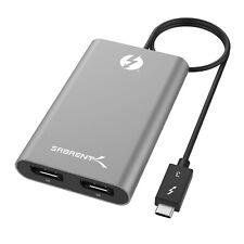Sabrent Thunderbolt 3 Dual DP DisplayPort Display Adapter Port TH-3DP2 PC & MAC