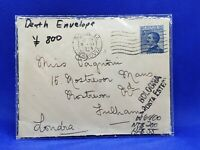 1915 Bologna Ferrovia Italy Mourning Cover / Death Envelope - Postal History