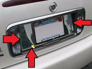 FITS CADILLAC DEVILLE 2000-2005 STAINLESS CHROME LICENSE PLATE TRIM