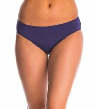 Anne Cole Bikini Bottom Sz XL Solid Navy Blue Classic Swim Pant 16MB301