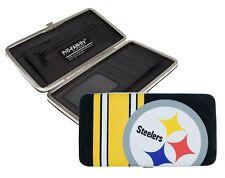 Pittsburgh Steelers Ladies Mesh Hard Shell Wallet NFL
