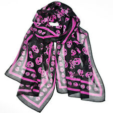 Cool Women's skull pattern charming long scarves shawl