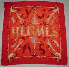 "Original Cashmere/Silk HERMES Shawl ""ALPHABET III"", 1990/1991"