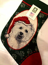 LINDA PICKEN WEST HIGHLAND TERRIER DOG CHRISTMAS STOCKING - MANUAL WOODWORKERS