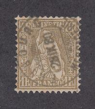 Switzerland Sc 50 used 1862 1fr Sitting Helvetia, Fribourg cancel