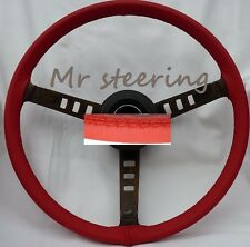 FITS  MG TF MIDGET 53-55 BEST REAL RED ITALIAN LEATHER STEERING WHEEL COVER  NEW