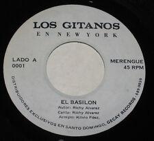 """Los Gitanos En New York 7"""" 45 El Basilon LATIN MERENGUE FUNK HEAR Santo Domingo"""