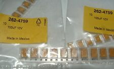 10 x 100uf 10v tantalum capacitor Kemet T495D107K010ATE100 2624759