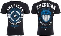 AMERICAN FIGHTER Men T-Shirt CHESTNUT HILL Athletic BLACK BLUE Biker Gym $40
