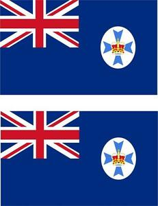 2 x Autocollant sticker voiture moto vinyl drapeau australie queensland