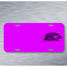 Animal Mammal Porcupine Quill Rodent On License Plate Car Front Add Names