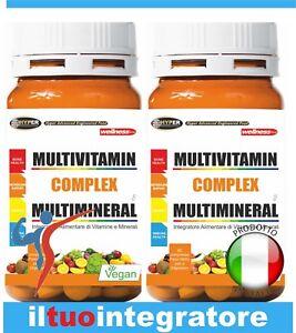 Multivitamínico Vitaminas y Minerales Alto Dosis 60 Comprimidos 2 Paquetes