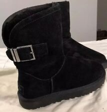 UGG REMORA BUCKLE 1092709 BLACK SZ 6 WOMAN'S BOOTS AUTHENTIC NEW* EXCLUSIVE)
