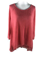 New York & Company Womens Size XL Overlay Top Sleeveless Scoop Neck Stretch