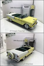 Danbury Mint 1955 CHEVROLET BEL AIR CONVERTIBLE- NMIB! LOVELY YELLOW! SUPERB!