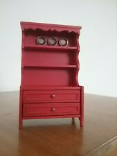 New ListingVintage Lundby Furniture Accessories, Red Rustic Kitchen Cupboard, 3185