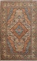 Vintage Geometric Anatolian Turkish Area Rug Hand-knotted Traditional 4x6 Carpet