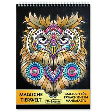 Malbuch für Erwachsene Tiere: Spiralbindung & perforiertes A4 Künstlerpapier
