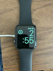Apple Watch Series 3 GPS 42mm Space Gray Aluminum Case w/ Black Band Pre Owned
