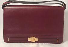 Authentic Christian Dior Handbag Purse Paris France Burgundy Storage Bag Classic
