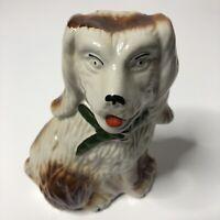 Vintage Spaniel Figurine Dog Made In Brazil Hollow Ceramic Decor
