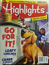 Highlights January 2017 Go For It Leafy Lunches Hidden Pictures FREE SHIPPING sb