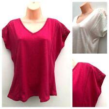 Ladies M&S PER UNA Modal Blend Lace Shoulder T-shirt Top Sizes 6-24 *NEW*