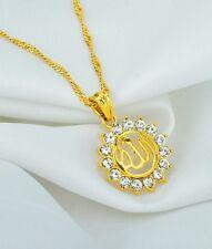 "Newly Designe Islamic""ALLAH""18k Gold Plated Rhinestone Crystal Pendant Necklace"
