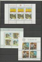 PORTUGAL - 1977, 1978, 1980 - EUROPA CEPT - 3 BLOCKS MINT/NH - Free Shipping
